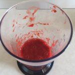 Piure de căpșune pentru spumă de căpșune cu frișcă