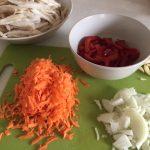 Ingrediente pentru ciorbă de burtă falsă cu ciuperci pleurotus