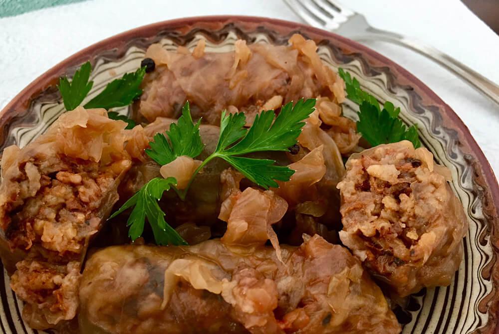 Sarmale de post cu nucă, ciuperci și orez